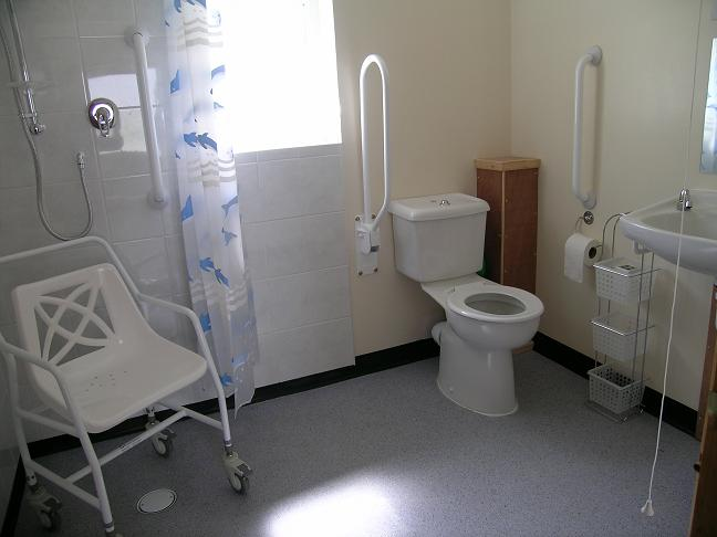 Facilities page disabled equipment available for Disabled wet room bathroom design