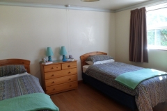 The twin bedroom with two single beds