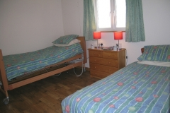 The twin bedroom with electrically operated bed