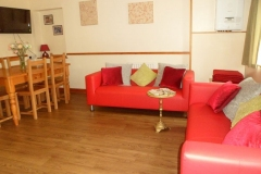 The lounge with kitchen table